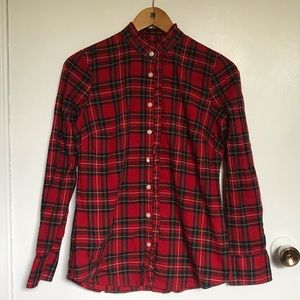 J.Crew Plaid Button Down long sleeves size XS